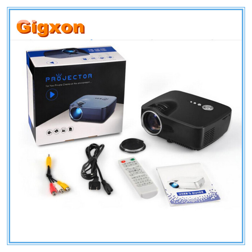 Gigxon g700 mini projector 1200 lumens multimedia for Lumen pocket projector