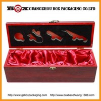 wholesale single rectangle packing box for glass wine
