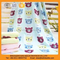 plain dyed animal printed microfiber fabric cartoon bath towel