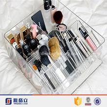 Complete Square Shaped Acrylic Makeup Organizer for Easy Movement Design /acrylic cube makeup organizer/acrylic makeup organizer
