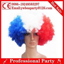 france colorful fan wigs