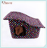 Foldable dog house with big dots