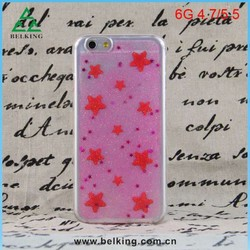 Fashion TPU Cover Mobile Bling Stars Shiny Case For iPhone 6 Ultra Thin TPU Jelly Cases
