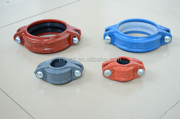 Fire sprinkler pipe fittings flexible coupling grooved