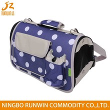 large dot canvas dog carrier with pocket pet travel bag