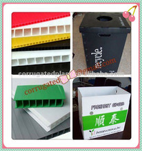 Corrugated plastic recycle trash bin