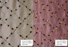 Sequin Embroidery Silk Fabric