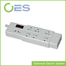 ETL Approved 6-Outlet American Type Surge Protector Multiple Socket, 125V American Power Strip