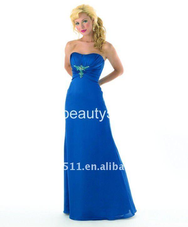 vestido vaina de gasa <span class=keywords><strong>azul</strong></span> vestido de fiesta 3124ql