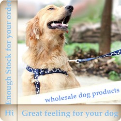 2015 new design wholesale dog products include dog collar and harness for small dogs from China L041024