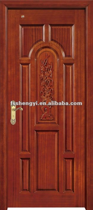 Classical wooden single door designs for room for Single main door designs for home