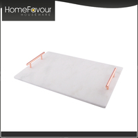 Export Oriented Manufacturer Customized Marble Tray With Handles