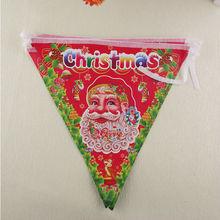 Ingrosso decorazioni natalizie, natale appeso bandiere, natale appeso bandiere triangolo