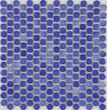 DARK BLUE COLOR WALL TILE SWIMMING POOL COLOR VARIATION PENNY ROUND CERAMIC MOSAIC