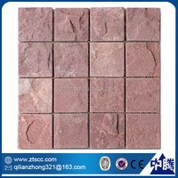 red oriental cultured tile mosaic flagstone stepping stone patterns
