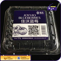 transparent Buleberry fruit packing tray