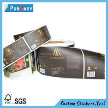 matt finish food packaging sticker