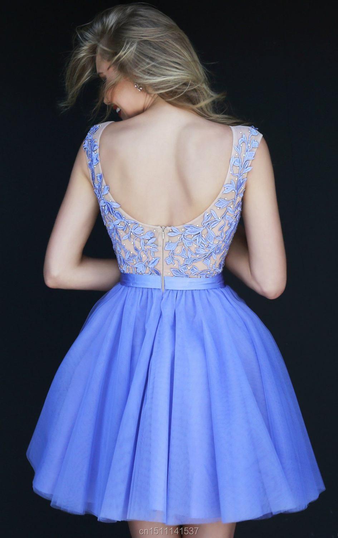 Платье на выпускной короткое и пышное