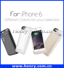 For iphone 6 battery charger case, for MFI battery case 3600mah