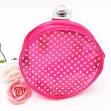 zipper round cosmetic bag