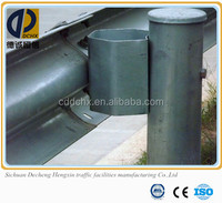 High quality hot dip galvanized w-beam guardrails with ISO certificate