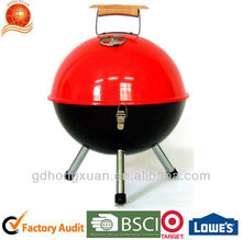 Wood Hand Football Style Barbecue Grill BBQG-11328