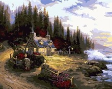 oil painting on canvas by numbers digital paintings naturel landscape yiwu wholesales GX6954 paint boy brand