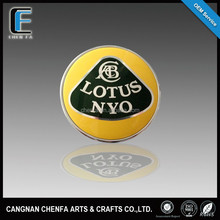 Custom 3D adhesive chrome plating ABS plastic round emblems badges stickers car logo and their name
