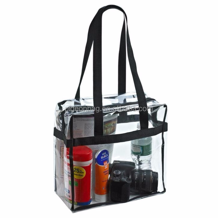 Amazon Ebay Hot Selling Clear Pvc Tote Bag Transparent