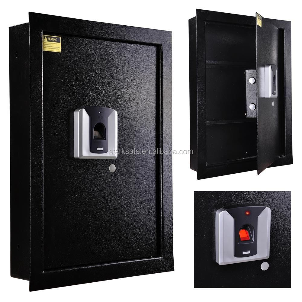 Fingerprint Hidden Wall Safe Biometric Lock Security Box