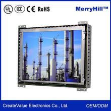 Commercial POS System 15 Inch Open Frame LCD Monitor With VGA, AV, DVI Inputs For Kiosk