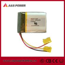 UL approval P603040 2P rechargeable lipo battery 3.7v 1500mah for electric products