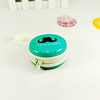 Cute small round candy packaging tin container with zipper