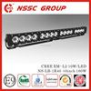 NSSC High Lumens CREE XM-L2 10w car led light bar 12v 40inch 160w