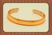 Wholesale Unisex heavy Adjustable 6 magnets arthritis pure copper magnetic bracelet
