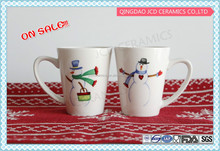 Porcelain Type And Holiday Decoration Gift Use Snowman Coffee Mug