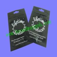 custom printed foil ziplock package bag for shoe lace