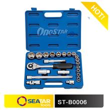 "23PCS 1/2"" DR. Socket Set Tools in Blow Cases Normal Used Tools Set"