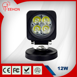 Super bright farming work LED Light, heavy duty 12w heavy work led light mining, engineering, truck, excavator,
