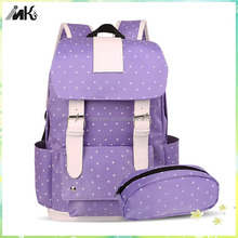 Trendy school bags for girls with leisure pen bag latest school bags for girls