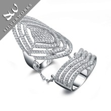 European Style Lots Sterling Silver DIamond Ring Finger Ring For women