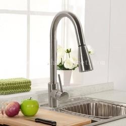 Brushed nickel brass kitchen spray taps