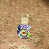 Shenzhen Lihome hot chinese style kettle shape 10ML glass bottle +wooden cap crystal car perfume bottle