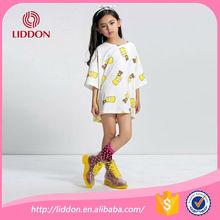 High top quality children girls semi-high socks with jacquard