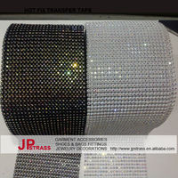 black white base crystal elastic plastic rhinestone chain trim