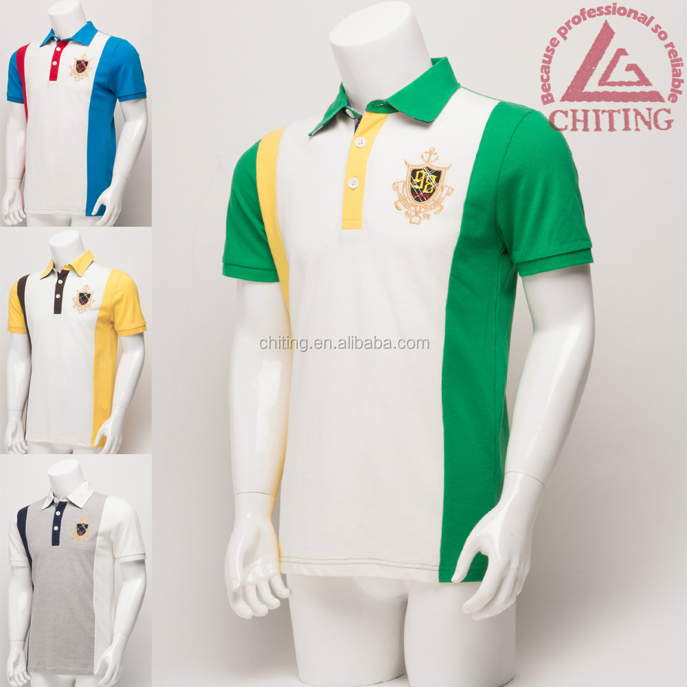 Wholesale color combination polo shirt man shirt polo for Wholesale polo shirts with embroidery