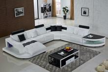 2015 New Sofa Design Modern Leather Sofa