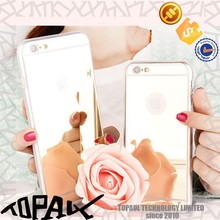 New phone casing for Girls with the mirror cover case for Samsuang S6 edge
