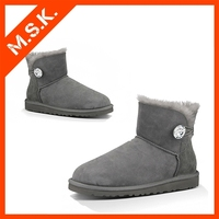 New sheepkin winter wholesale women snow boot warm shoes