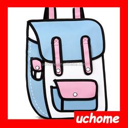 UCHOME New Arrived Wholesale Women and Men hot gun bag 3d cartoon bag pistol bag vlieger vandam style fashion PU Leather